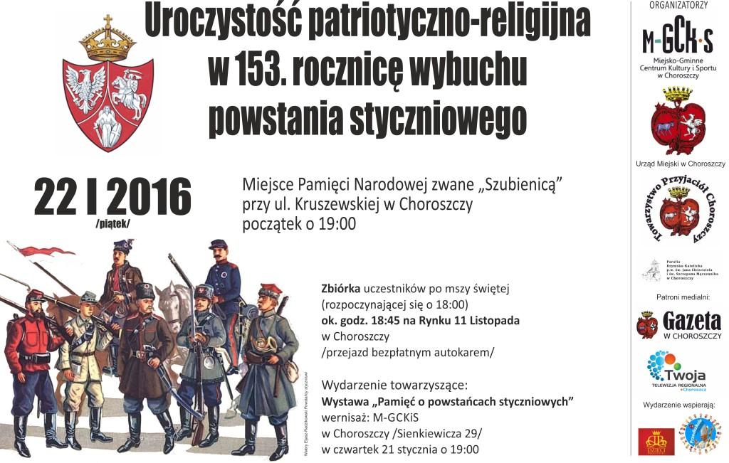 2016 powstanie styczniowe plakat