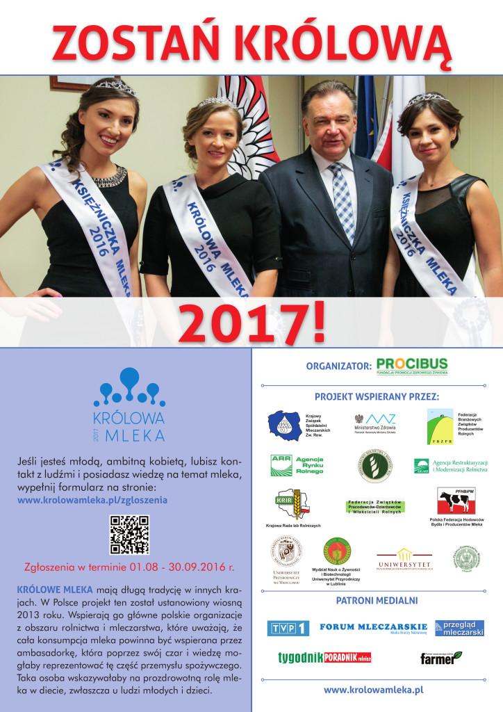 królowa mleka 2017 plakat