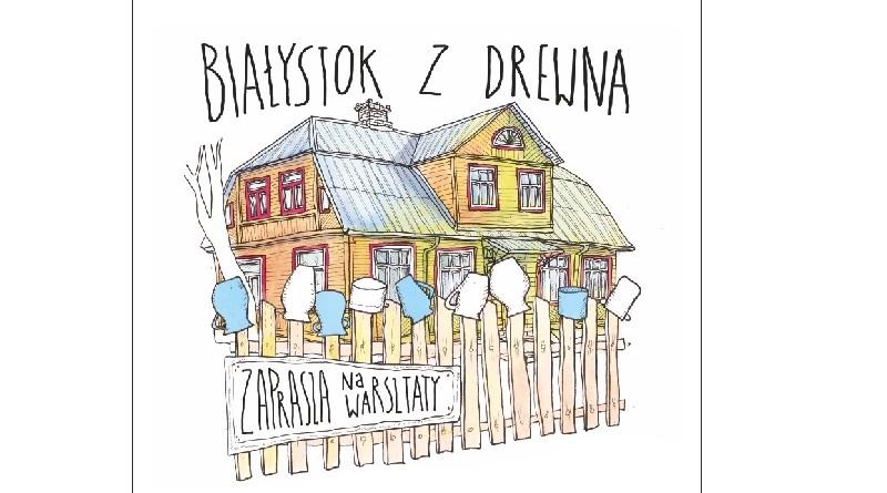 baner Białystok z drewna