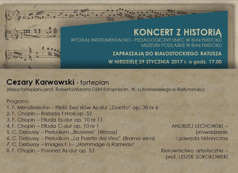 koncert z historią 29.01.2017