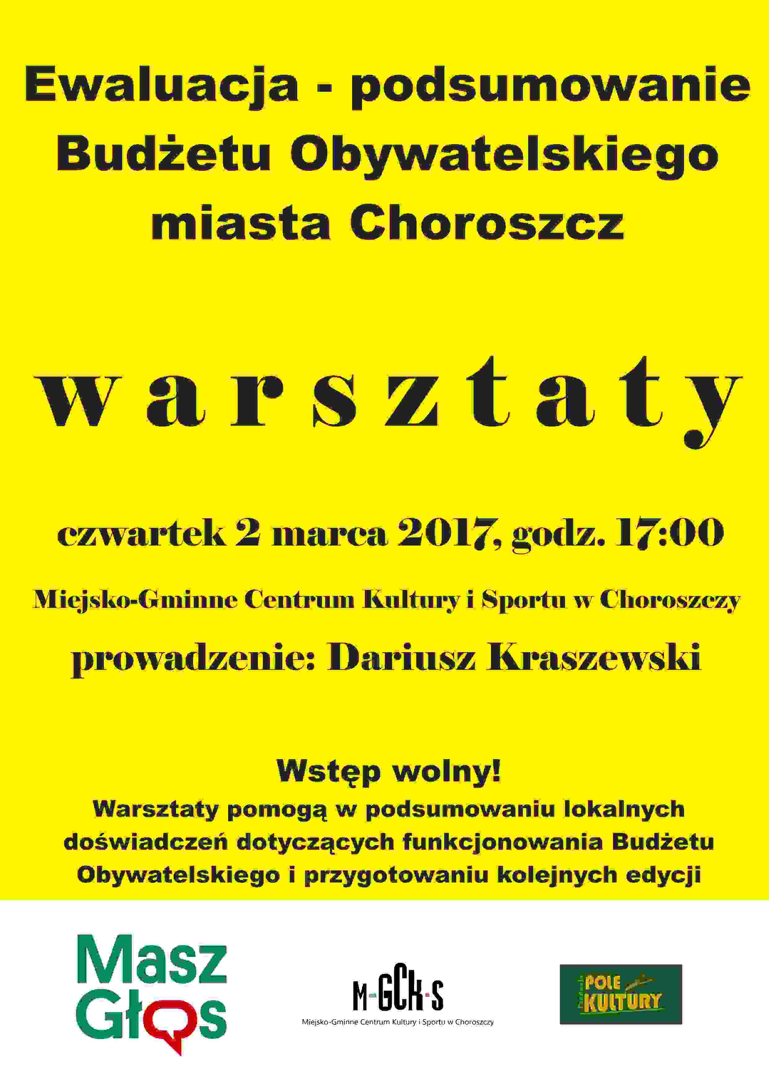 plakat masz głos 2 marca 2016