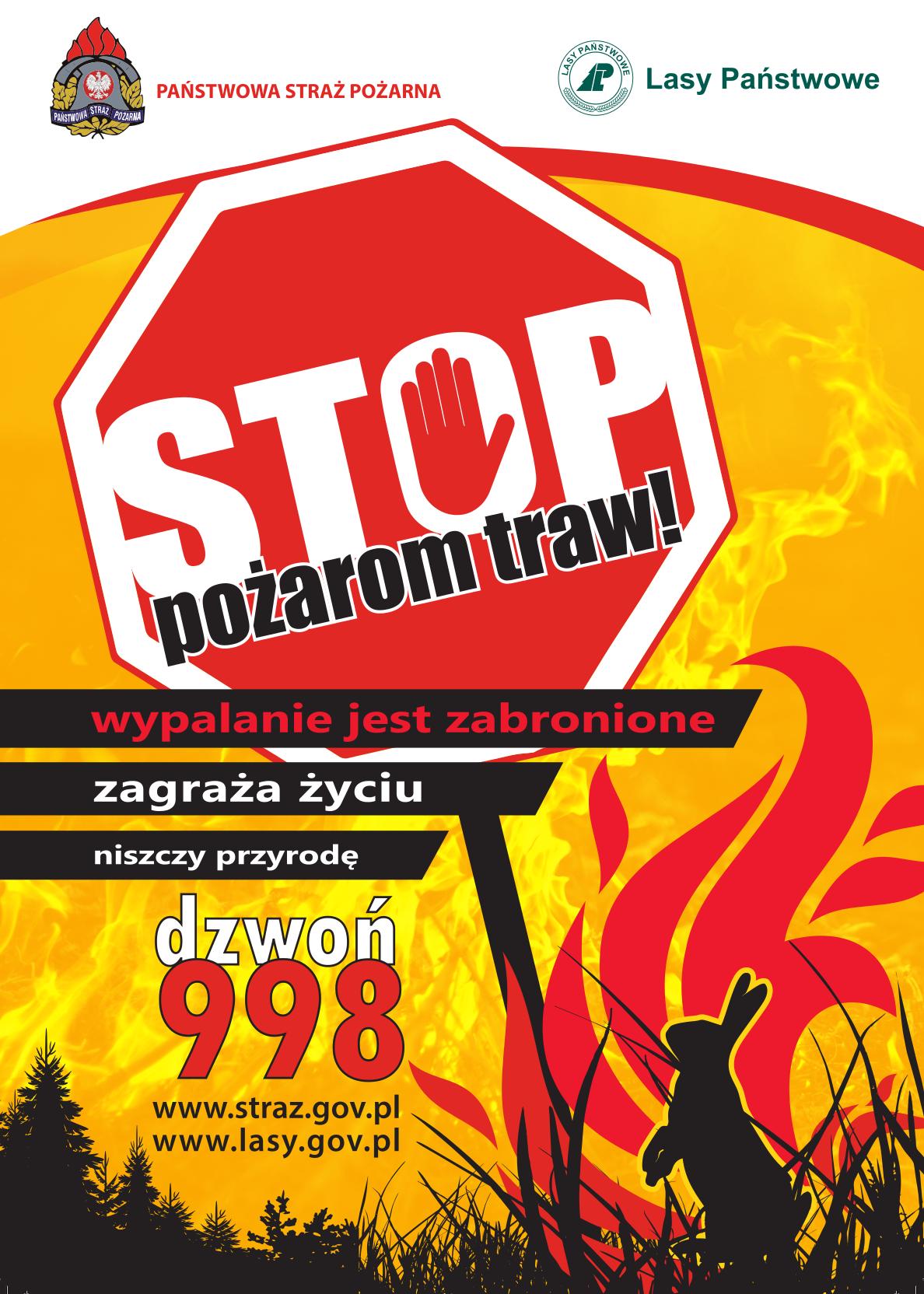 STOP pożarom traw_plakat