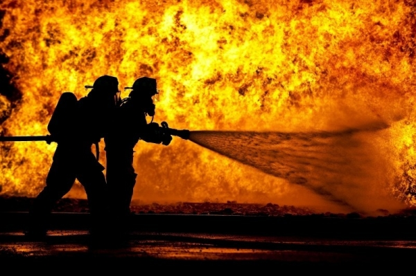 firefighters-training-live-fire-silhouette-1