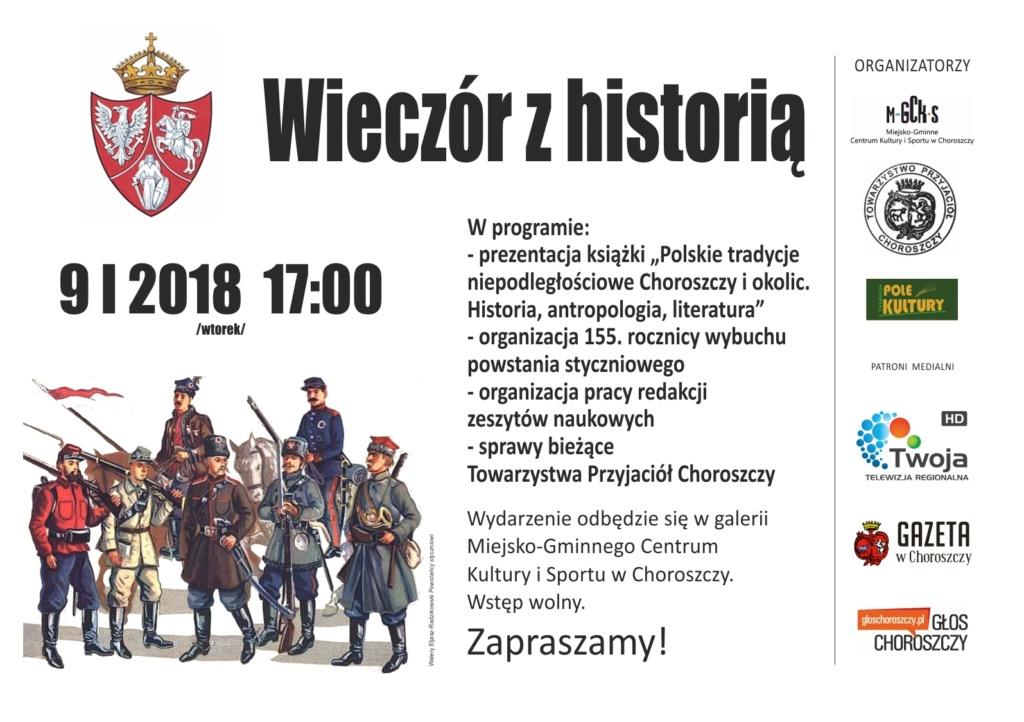 wieczór z historią 9 stycznia 2017 plakat